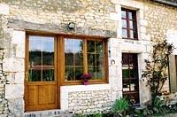 Porte avec fenêtre