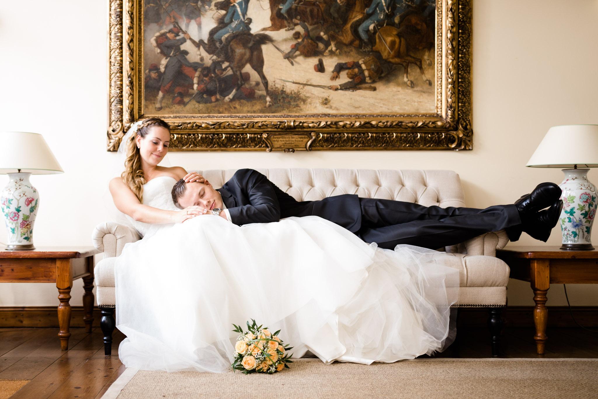 Braut mit Bräutigam auf Schloss Lüdersburg