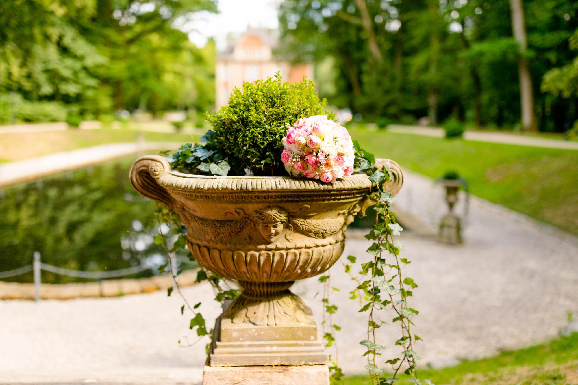 Detail freie Trauung im Schlosspark von Eldingen