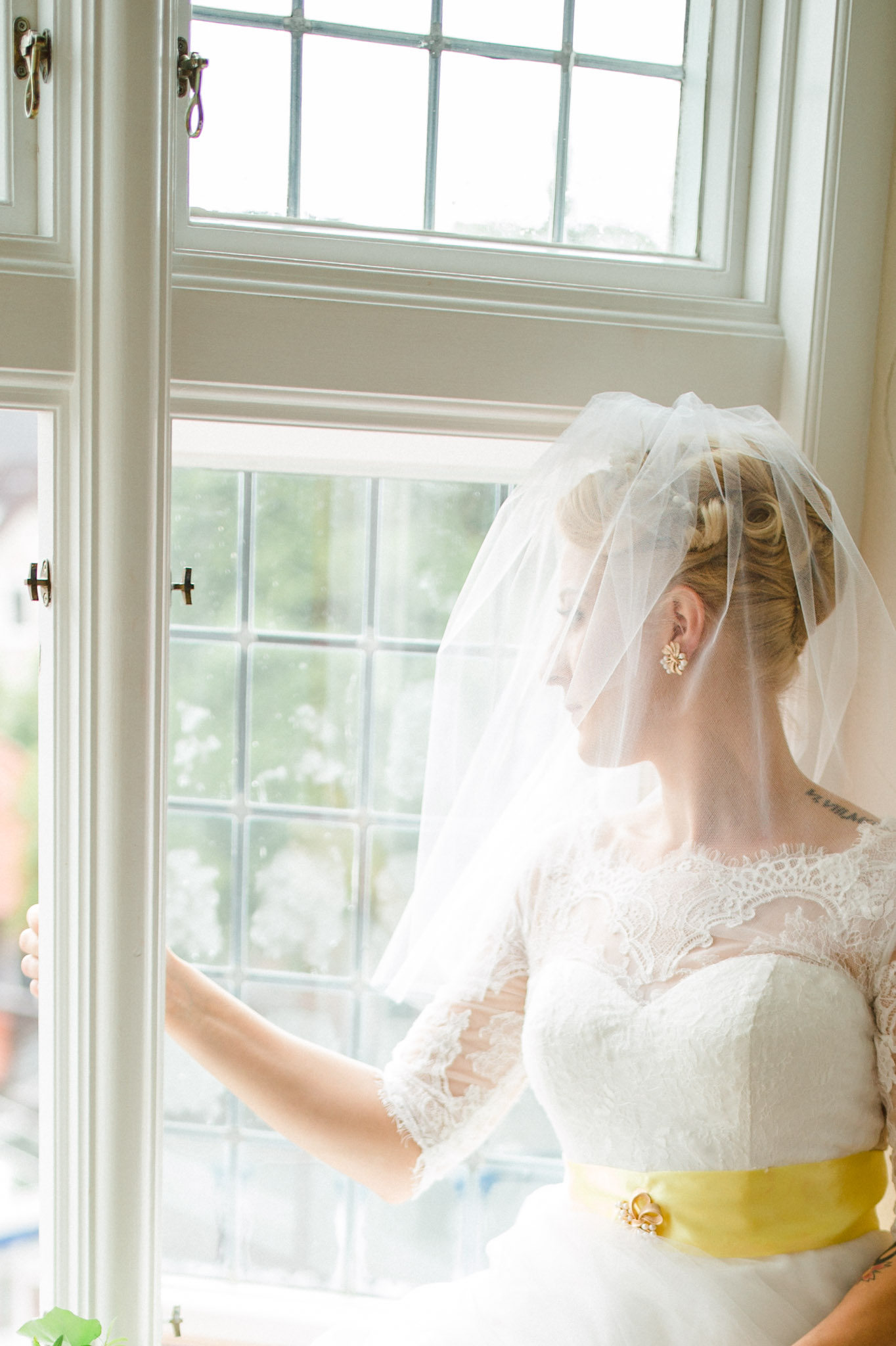 Braut im Märchenturm vom Hotel Bergström