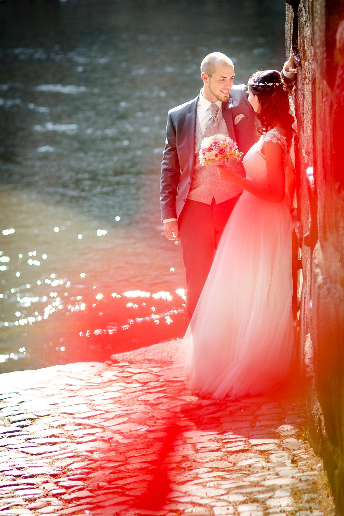 romantische Brautpaarfotos