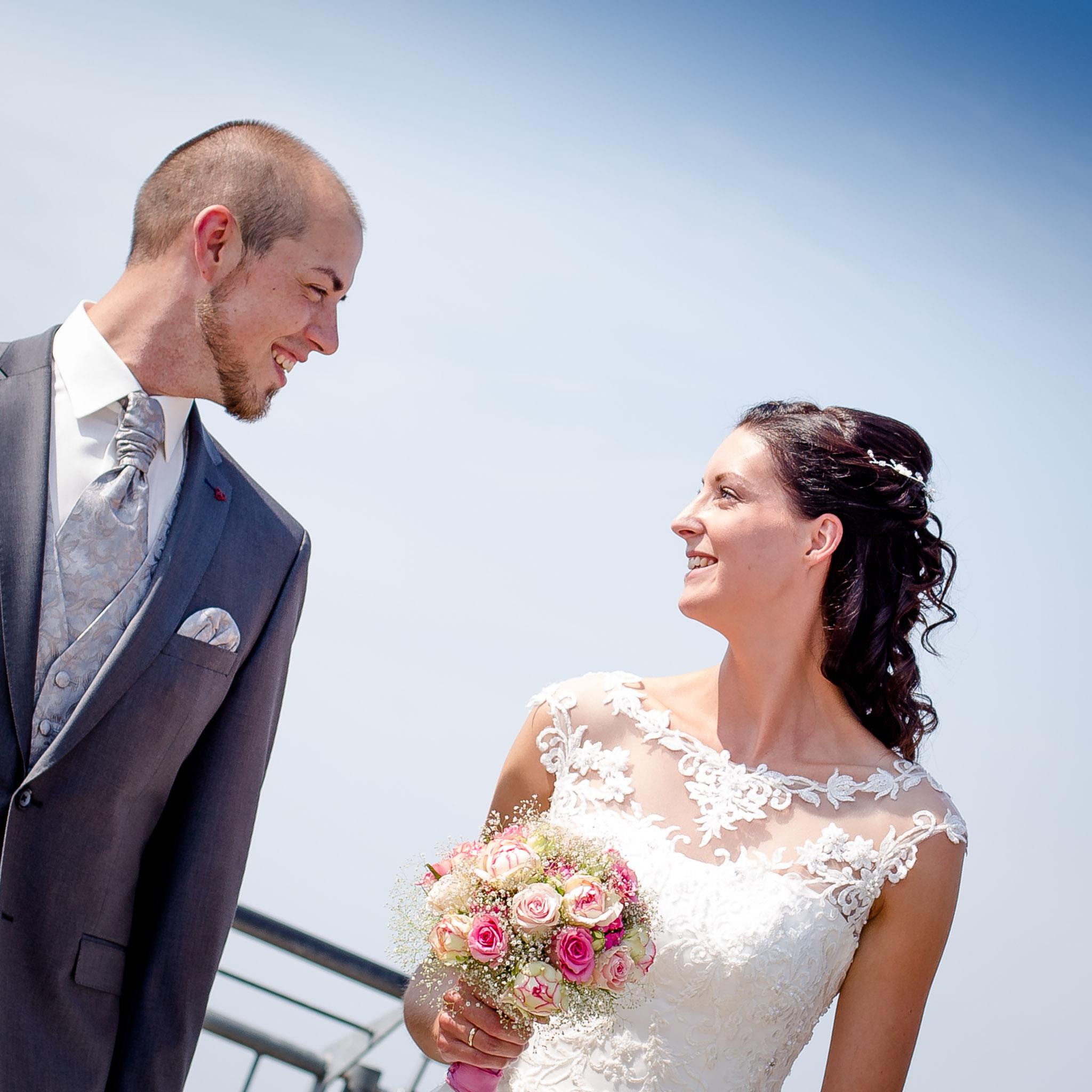 Brautpaar auf dem Wasserturm Lüneburg