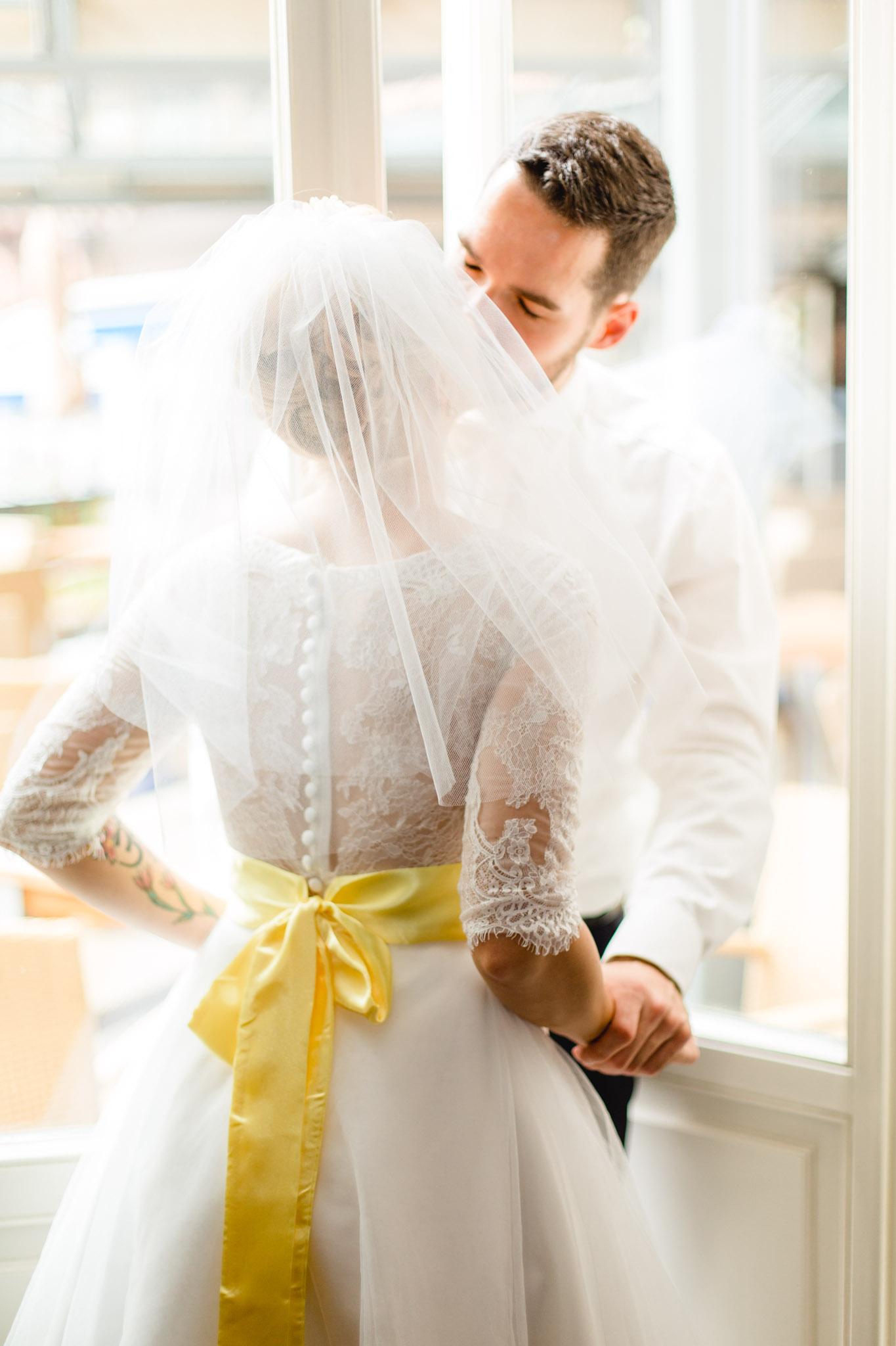 Brautpaar im Hotel Bergström