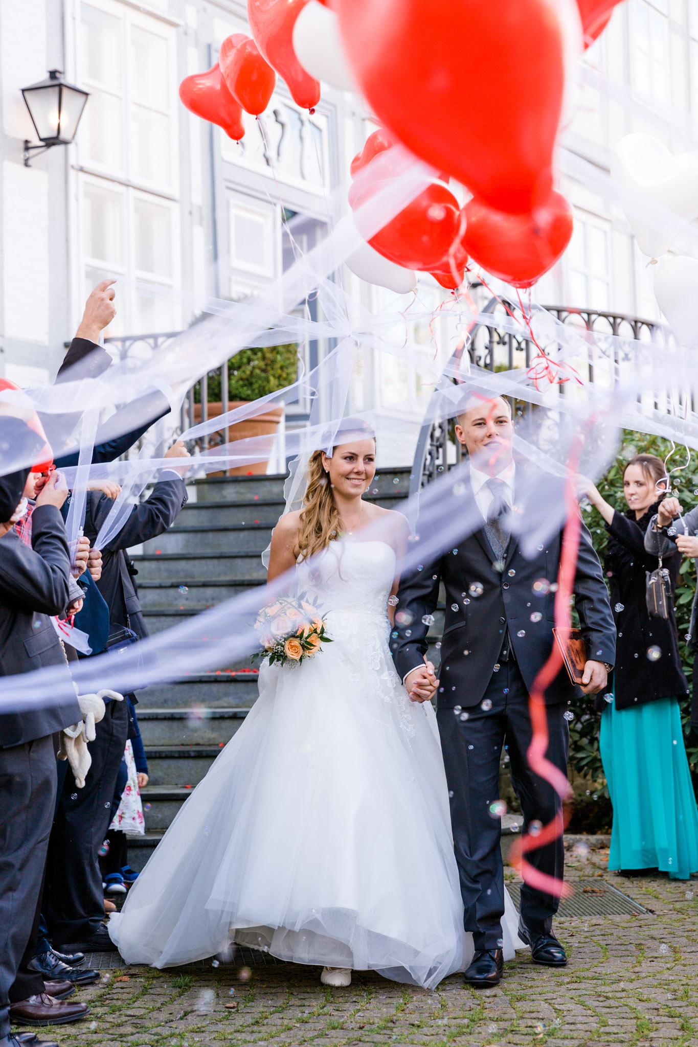 Hochzeit Karina & Christopher auf Schloss Lüdersburg Empfang