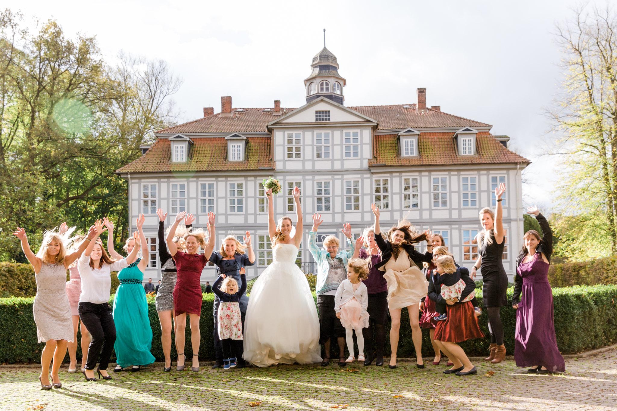 Hochzeit Karina & Christopher auf Schloß Lüdersburg Frauenfoto