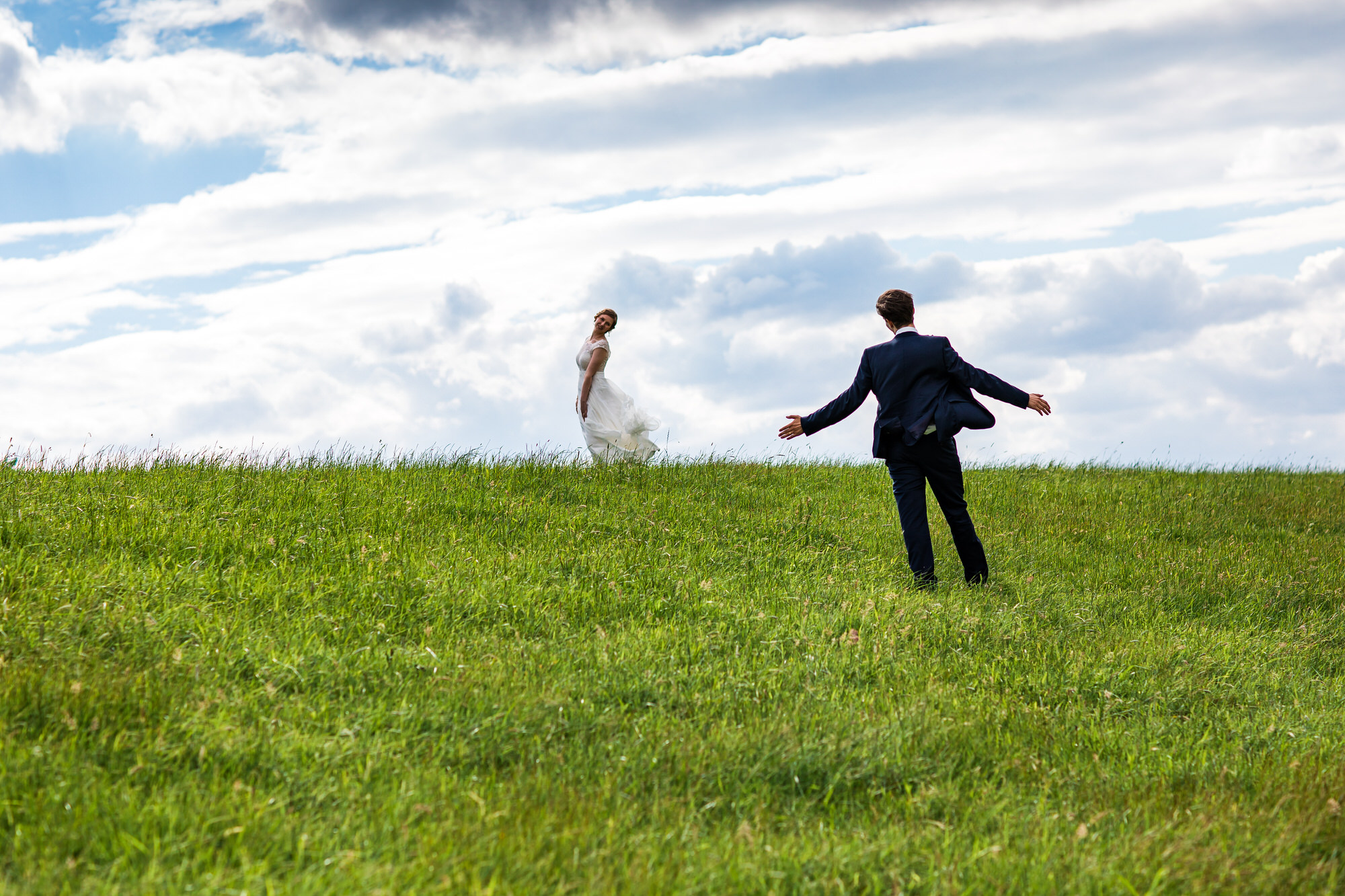 Braut & Bräutigam am Deich