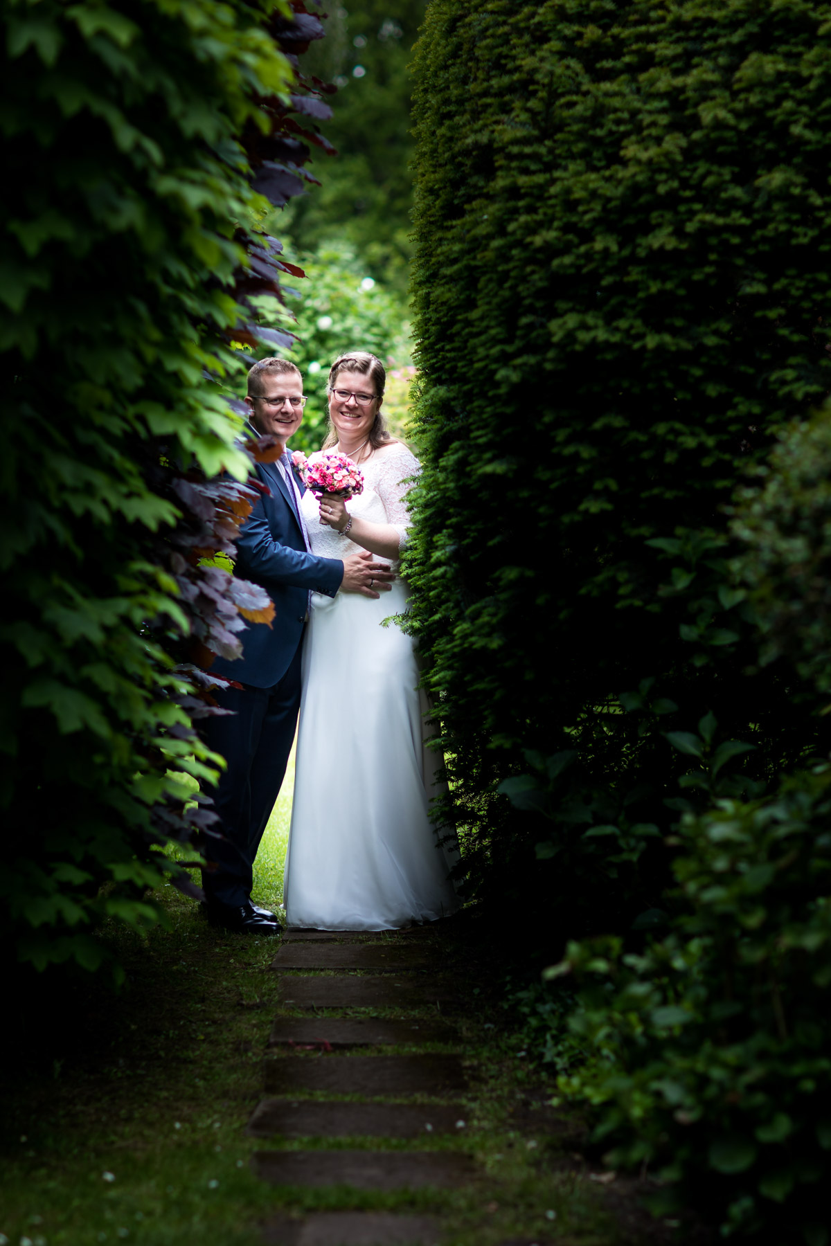 vor dem Brautpaarshooting