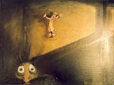 """""""Der Wille zur Wurst 3"""", 2001 Öl und Gouache auf Leinwand, 40 X 50 cm"""