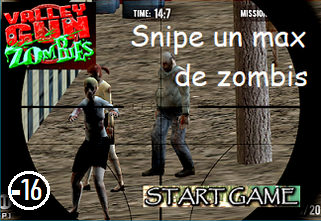 10001games.fr / Valley Gun Zombies : snipe un max de zombis...  (+16)