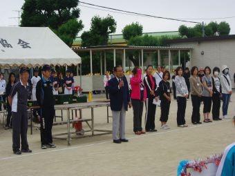 名島校区子ども会親善ソフトボール・ドッジボール大会開会式風景