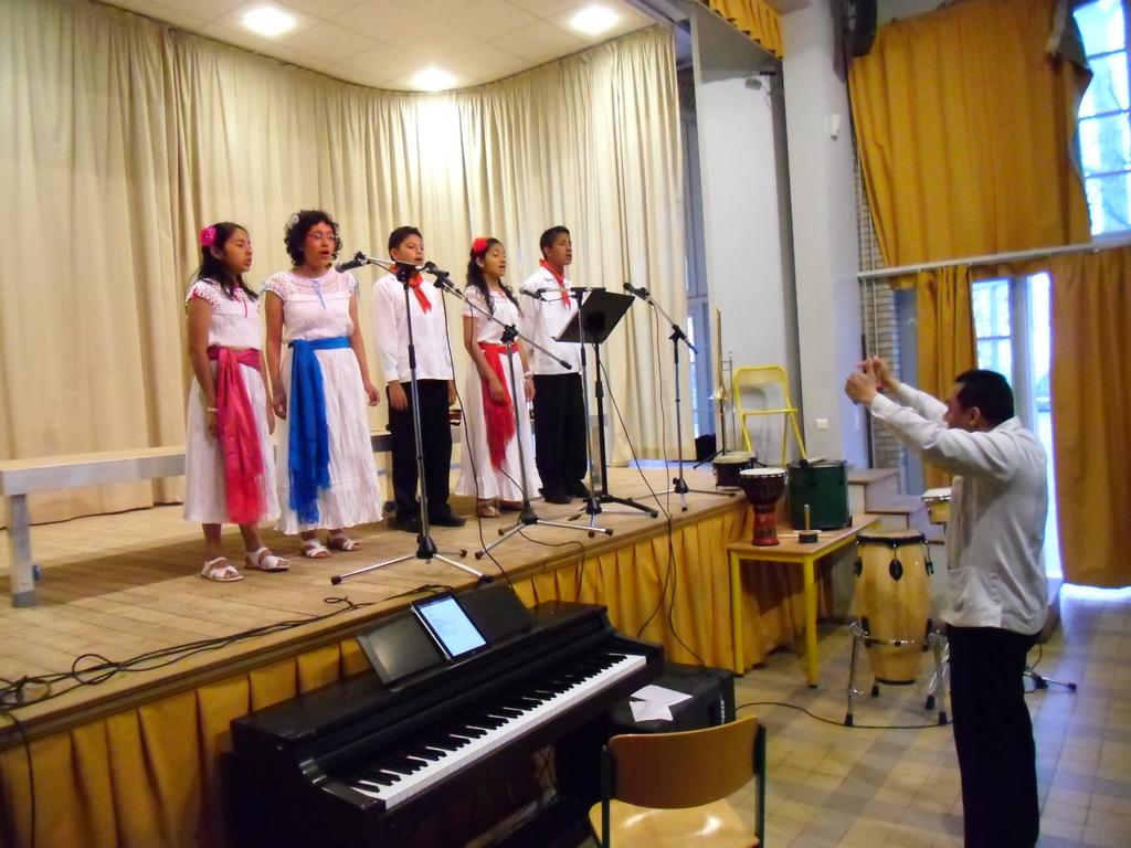 L'Ensemble Vocal de Cordoba Veracruz, dirigé par Salomon Hernandez