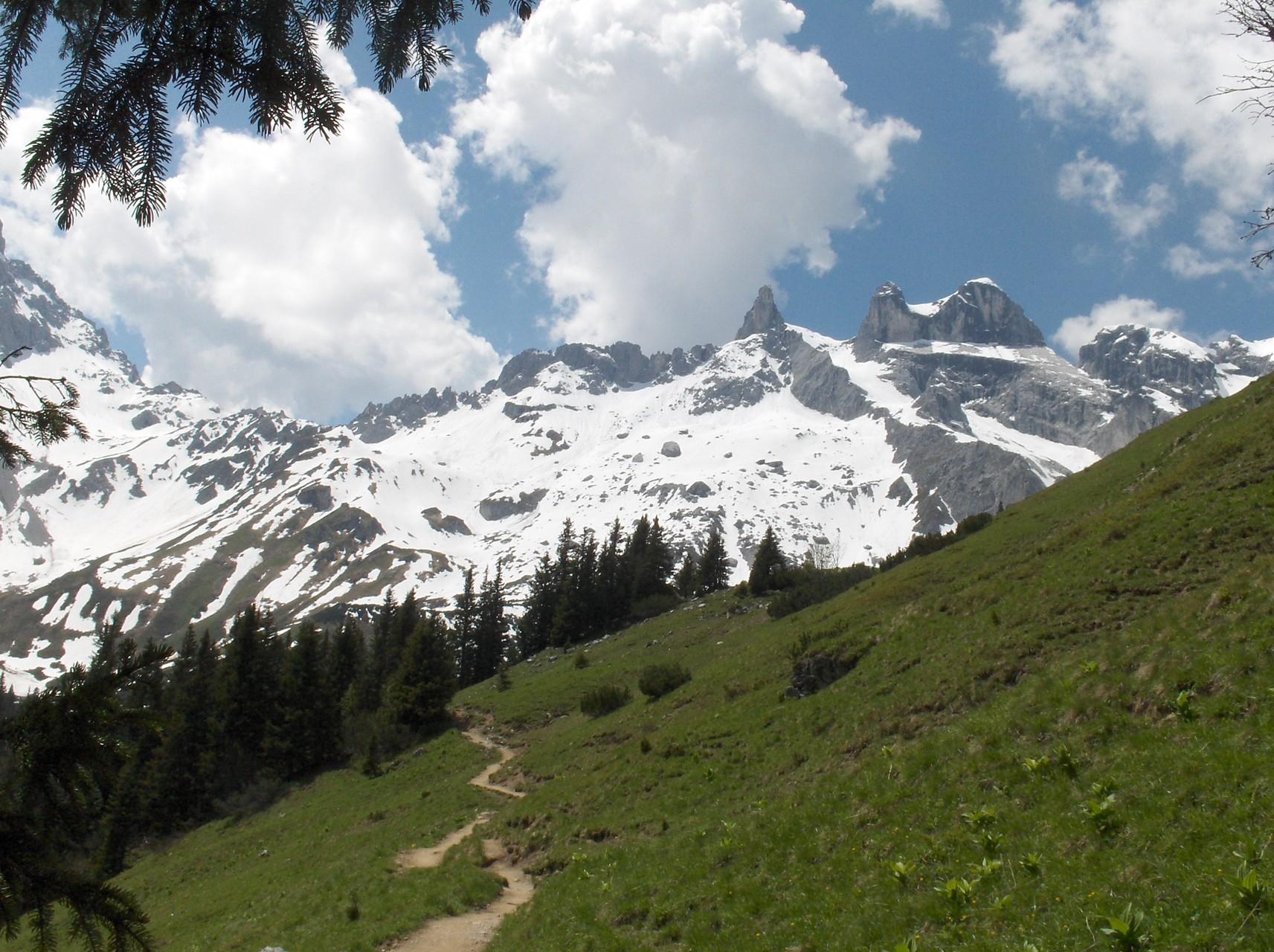 Wanderweg vom Golm zur Lindauer Hütte