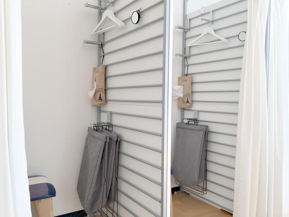 二つの更衣室完備