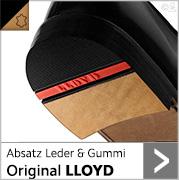 Absatz Leder & Gummi Original LLOYD mit schwarzem Gummi und roter Intarsie