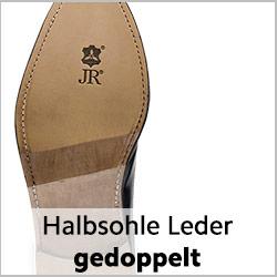 Halbsohle aus Rendenbachleder für rahmengenähte Schuhe
