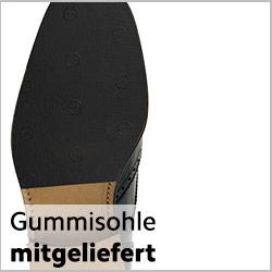 Mitgelieferte Gummisohle auf rahmengenähten Schuh anbringen lassen