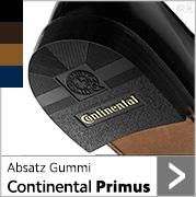 Absatz Gummi Continental Primus in schwarz, lederfarben und dunkelbraun