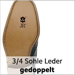 Dreiviertelsohle aus Rendenbachleder für rahmengenähte Schuhe