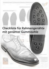 Checkliste, Preisliste und Bestellformular für rahmengenähte Schuhe mit Ledersohlen