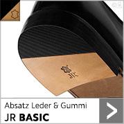 Absatz Leder & Gummi JR BASIC mit schwarzem Gummi