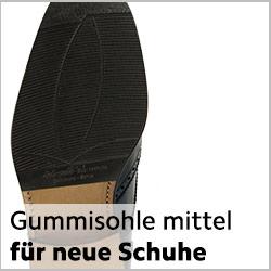 normale Halbsohle Gummi mittelstark für neue rahmengenähte Schuhe