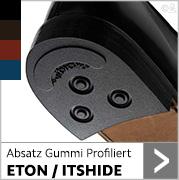 Absatz Gummi Profiliert ETON/ITSHIDE  in schwarz,dunkelbraun, rot und blau