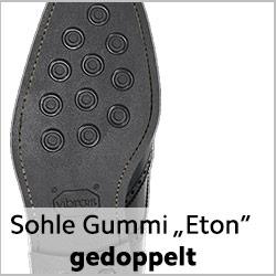 ETON Gummisohle genäht für getragene rahmengenähte Schuhe