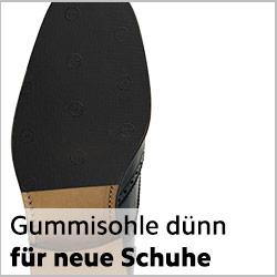 Dünne Gummisohlen für neue rahmengenähte Schuhe