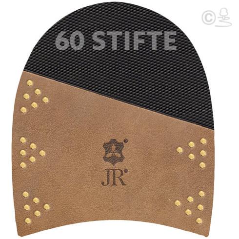 JR Basic Lederabsatzfleck mit Gummiintarsie mit 60 Messingstiften