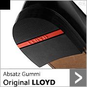 Absatz Original LLOYD mit schwarzem Gummi und roter Intarsie