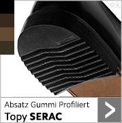 Absatz Gummi Profiliert Topy SERAC in schwarz und mehreren brauntönen