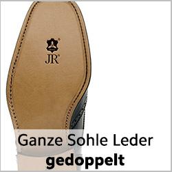 Ganze Sohle (Komplettreparatur) aus Rendenbachleder für rahmengenähte Schuhe