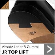 Absatz Leder & Gummi JR TOP LIFT mit schwarzem Gummi