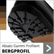 Absatz Gummi Profiliert BERGPROFIL  in schwarz und mehreren brauntönen