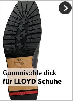 Robuste Gummisohlen für LLOYD-Schuhe