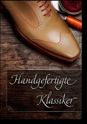 Titelseite unseres Maßschuh Kataloges mit klassischen, zeitlosen Schuhmodellen