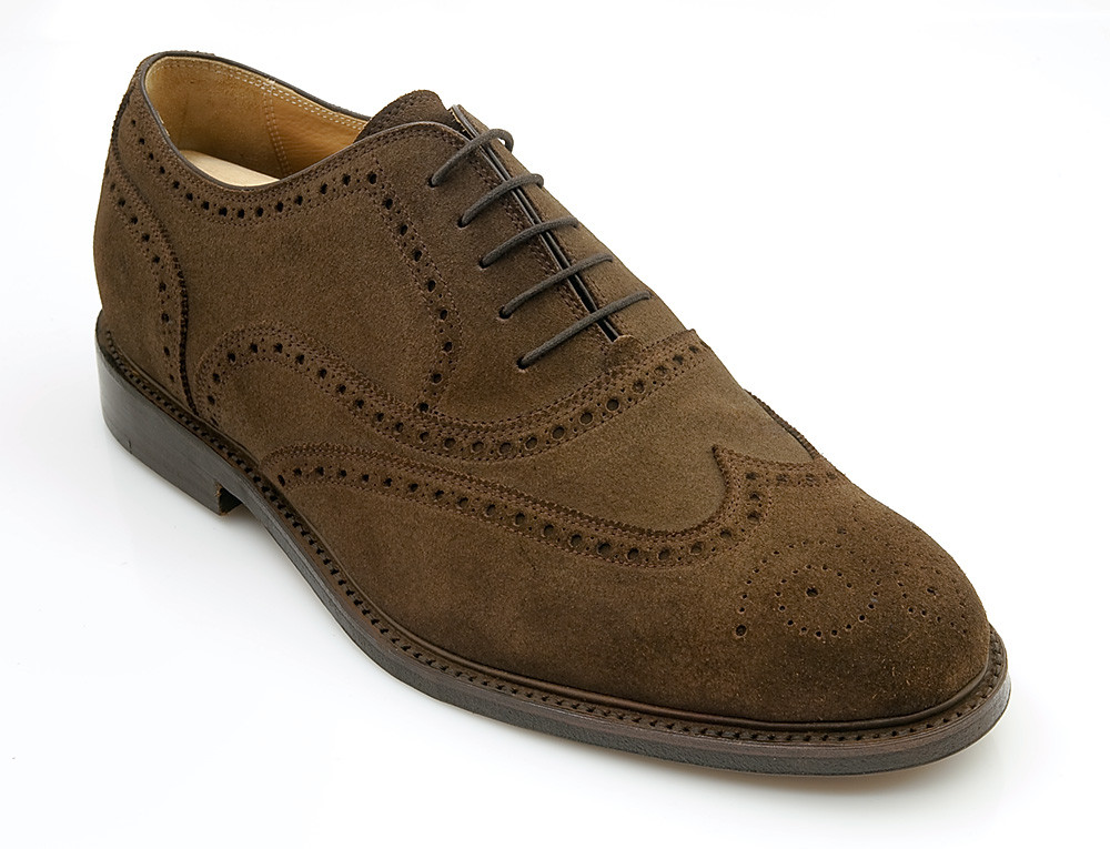 Fullbrogue Velour mittlebraun