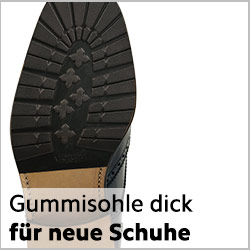 Dicke Halbsohle Gummi für neue rahmengenähte Schuhe