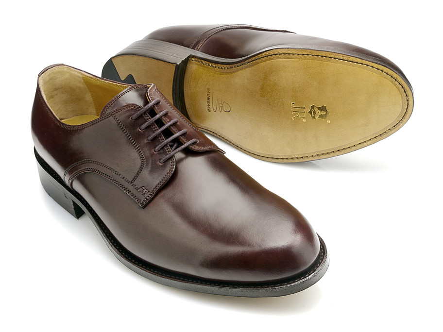 Oxblood (Bordeauxfarbener) Plain Derby aus Cordovan