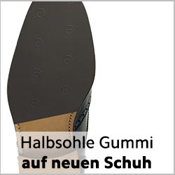 Halbsohle Gummi für rahmengenähte Schuhe