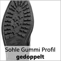DIANITE Profilgummisohle (Commander) genäht für getragene rahmengenähte Schuhe