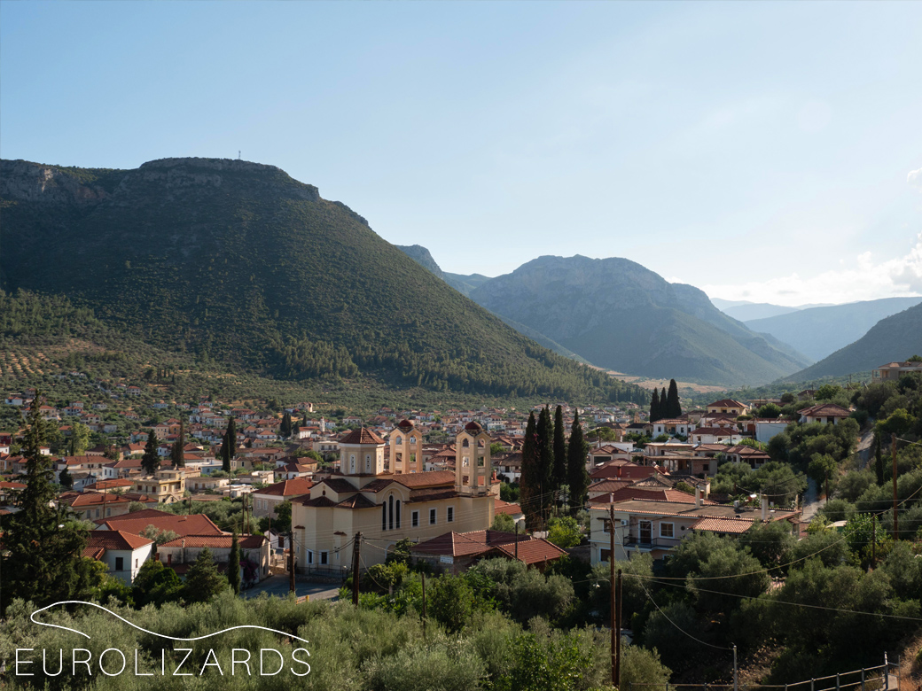 The beautiful town of Leonidi which was our home for one week.