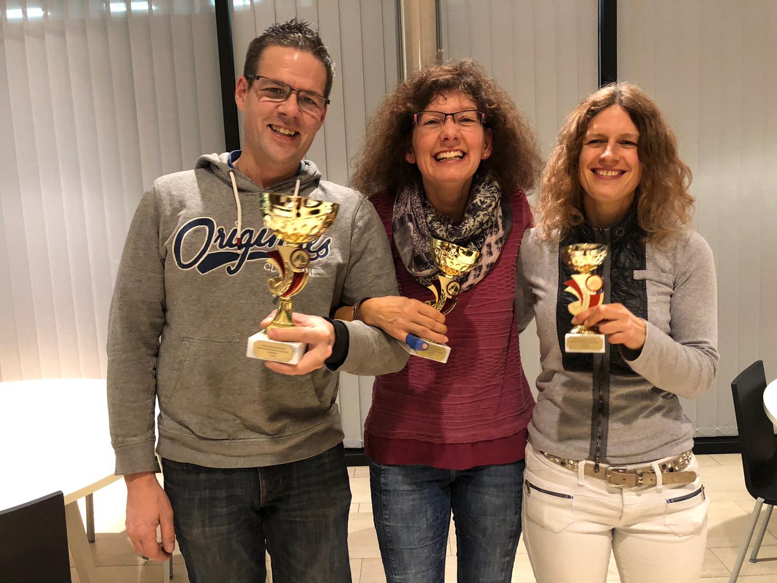 Gymkhana Aktive: 1. Sven, 2. Andrea, 3. Manuela