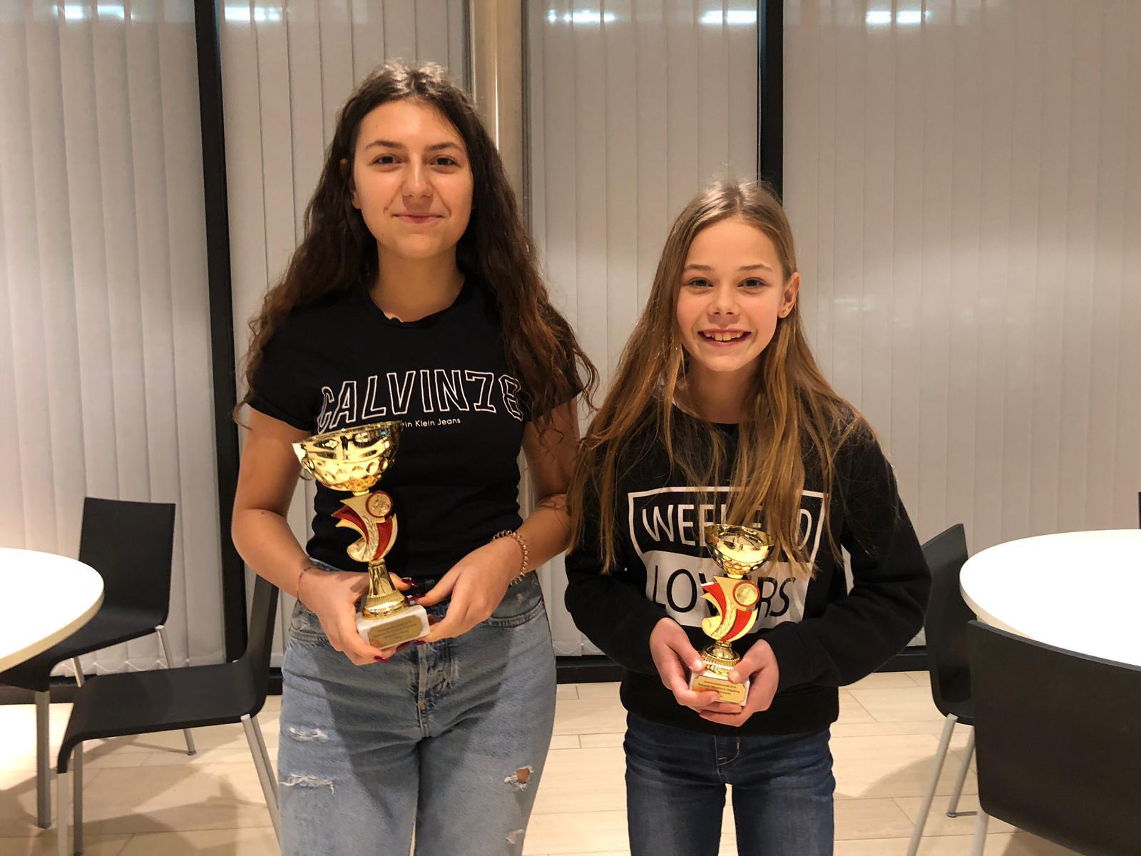 Gymkhana Junioren: 1. Tamara, 2. Larissa (abwesend), 3. Laura