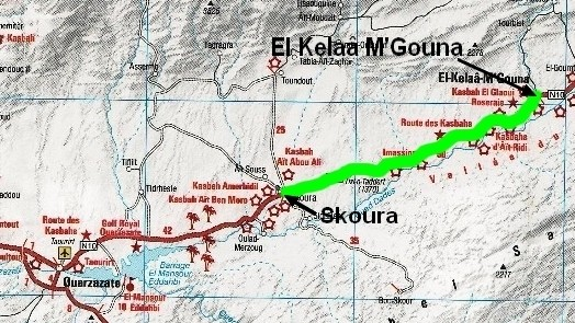 De El Kelaâ à Skoura