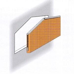 Lamellenvorhang für spitzes Giebelfenster