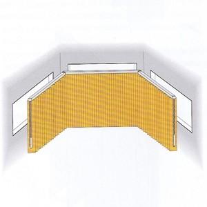Lamellenvorhang für Erkerfenster