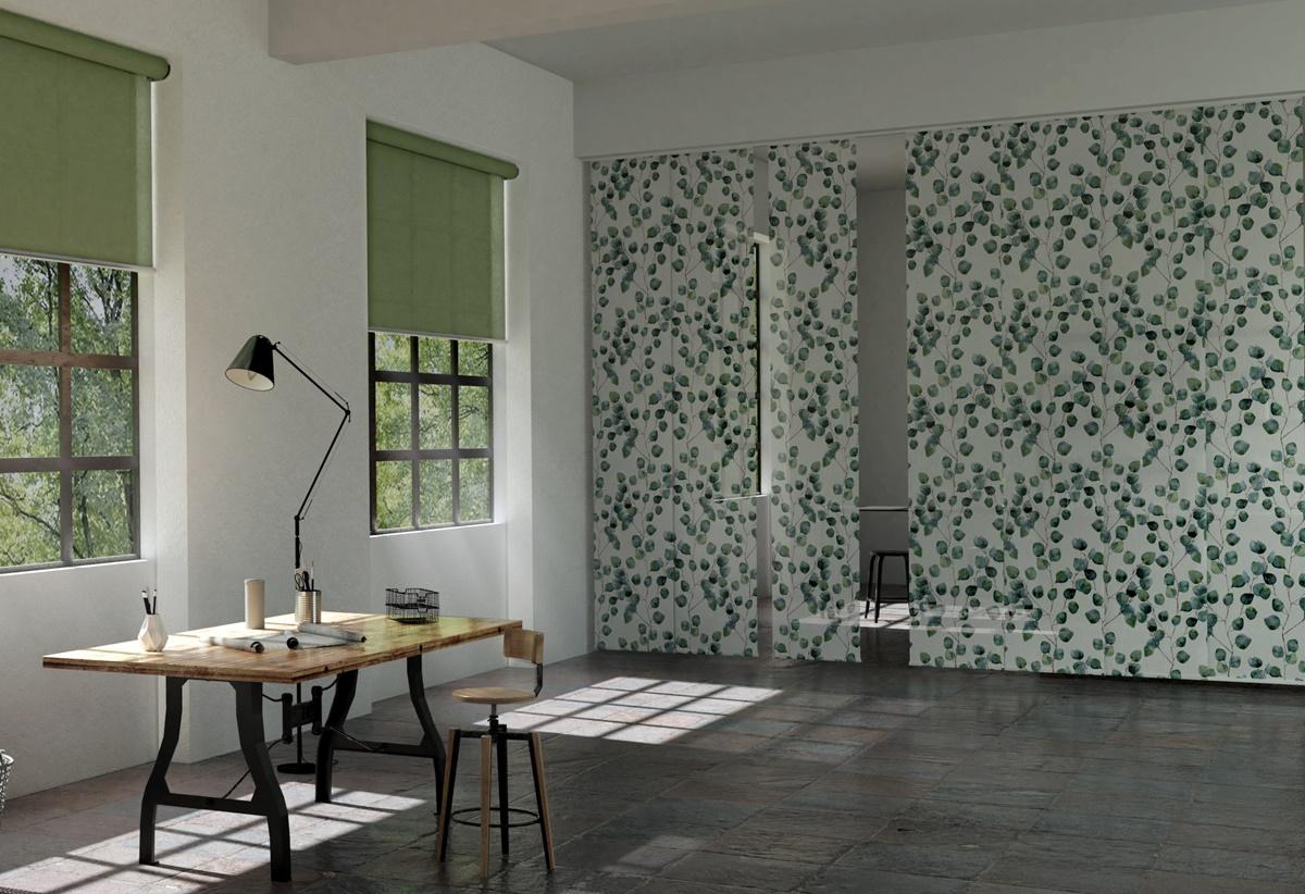 Flächenvorhang aus der MHZ-Designkollektion bei Lamellen Junker in Langenselbold