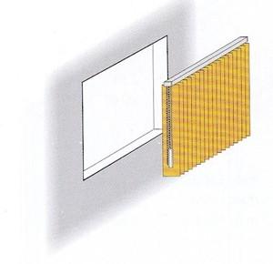 Lamellenvorhang für gerades Fenster