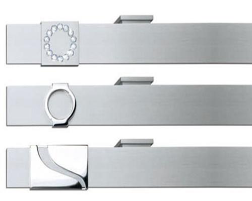 Eleganter Design-Flächenvorhang mit hochwertigen Endstücken, besondere Flächenvorhangschienen von Lamellen Junker